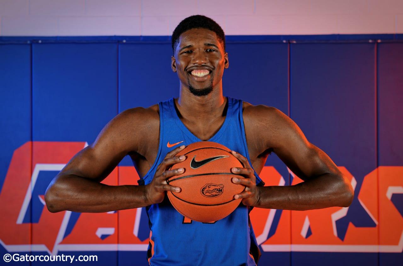University of Florida forward Kevarrius Hayes poses during media day- Florida Gators basketball- 1280x852