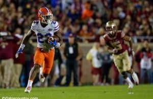 University of Florida freshman cornerback Chauncey Gardner returns his first career interception against FSU- Florida Gators football- 1280x852