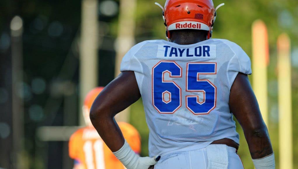 University of Florida offensive tackle Jawaan Taylor during fall camp- Florida Gators football- 1280x852