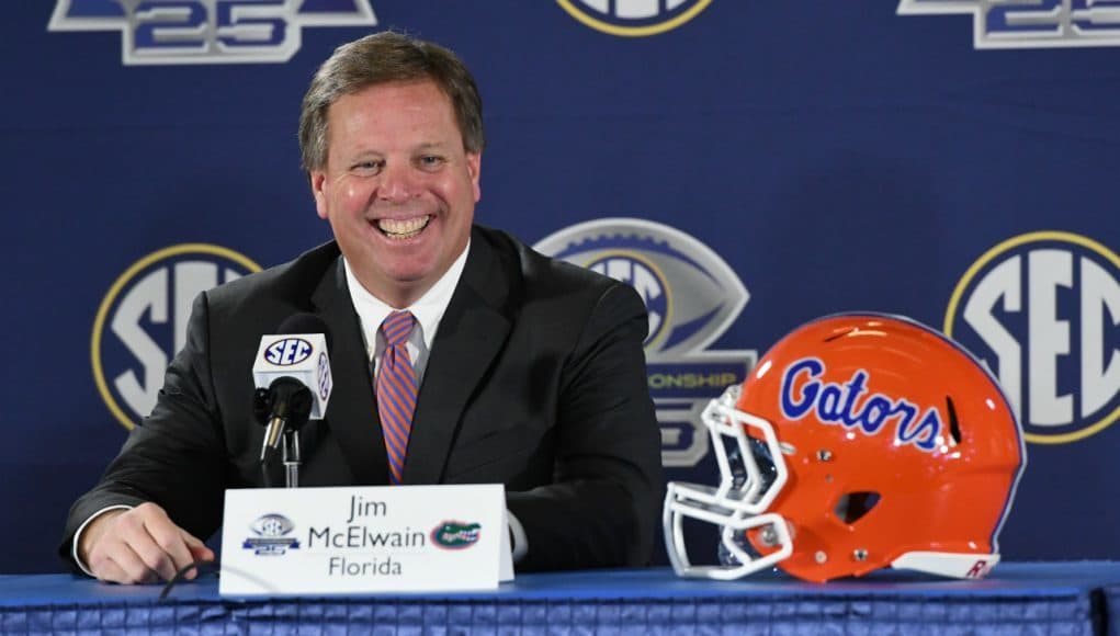 Florida Gators head coach Jim McElwain during SEC Championship press conference- 1280x854