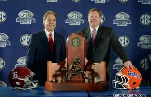 Florida Gators head coach Jim McElwain and Nick Saban with the SEC championship- 1280x853