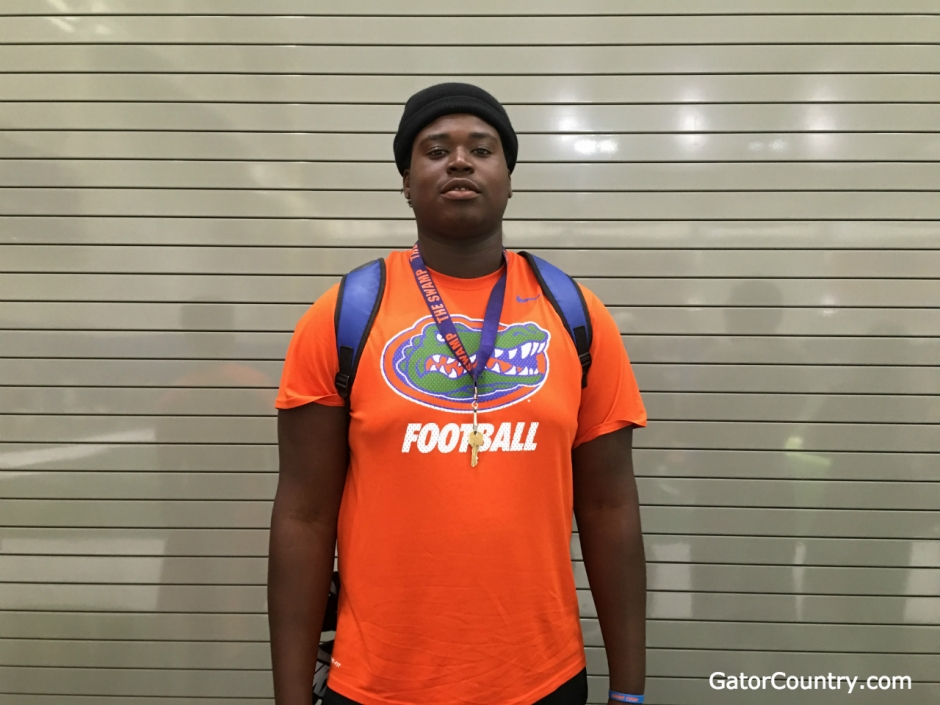 Florida Gators offensive line commit Kadeem Telfort- 1280x960
