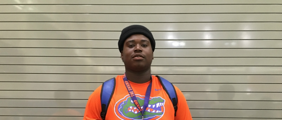 Telfort and his mother thankful for the Florida Gators coaches