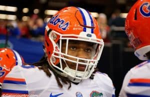University of Florida running back Jordan Scarlett walks out onto the field before the SEC Championship game in 2015- Florida Gators football- 1280x854