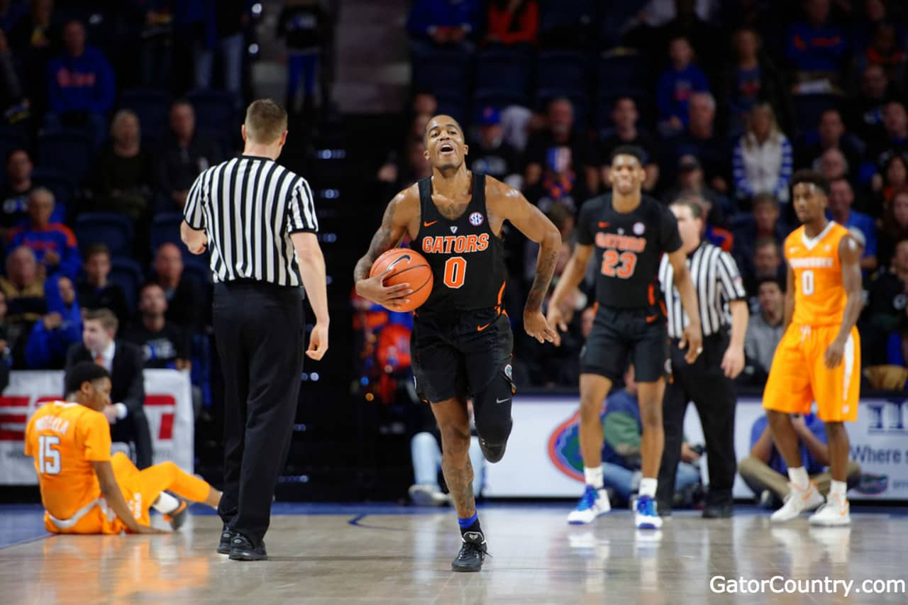 Florida-gators-basketball-player-kasey-hill-celebrates-after-a-win