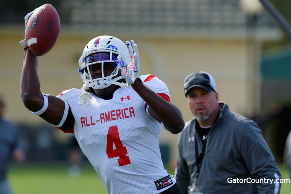 Florida Gators recruiting receiver target James Robinson at the Under Armour game- 1280x853