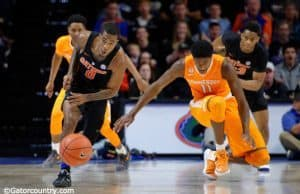 University of Florida Gators guard Kasey Hill steals a pass against Tennessee- Florida Gators basketball- 1280x852