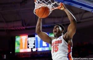 Florida Gators basketball player John Egbunu with the slam dunk against Kentucky- 1280x852