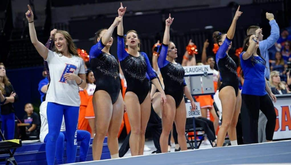 Florida Gators gymnastics defeated Georgia at home- 1280x853