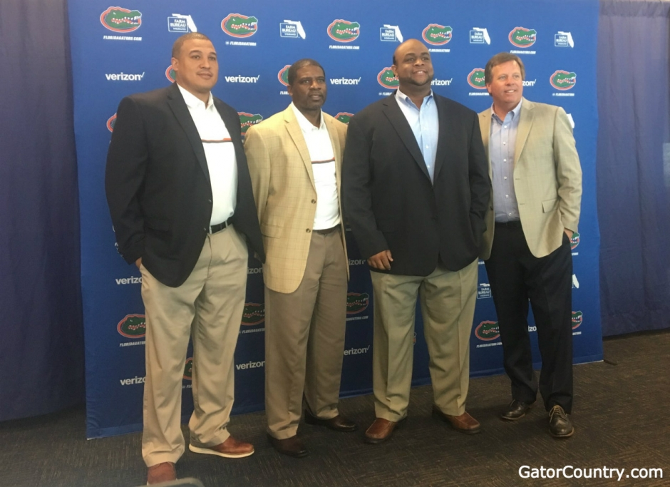 Florida Gators new assistant coaches with Jim McElwain- 1280x930