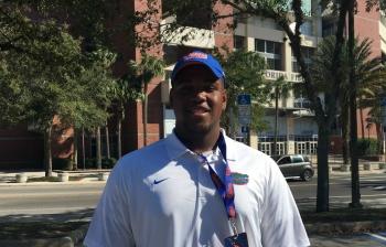 Barnes enjoys first meeting with Florida Gators OL coach