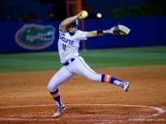 Florida Gators softball pitcher Kelly Barnhill pitches for UF- 1280x855