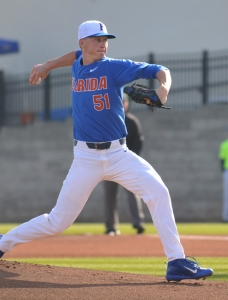 Singer strong as Gators take series from Miami