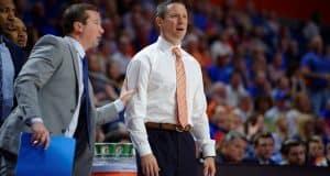 Florida Gators basketball coach Mike White coaches the Gators in 2017- 1280x853
