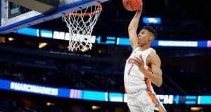 Florida Gators basketball player Devin Robinson dunks against ETSU- 1280x853