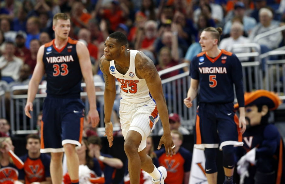 Florida Gators basketball player Justin Leon against Virginia- 1280x828