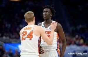 Florida Gators basketball players Gorjok Gak and Canyon Barry- 1280x853