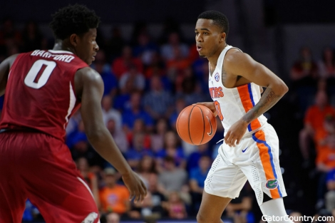Florida Gators point guard Kasey Hill against Arkansas- 1280x853