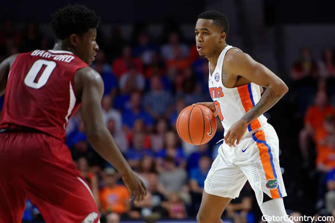 Florida Gators point guard Kasey Hill against Arkansas- 1280x853