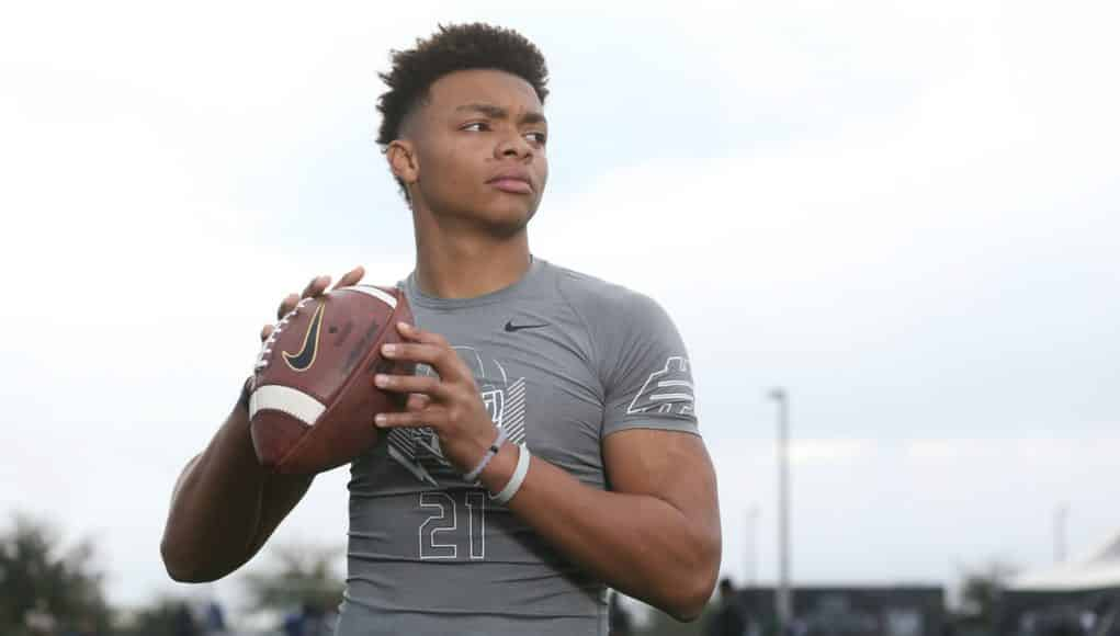 Florida Gators recruiting QB target Justin Fields at the Opening Regional- 1280x853