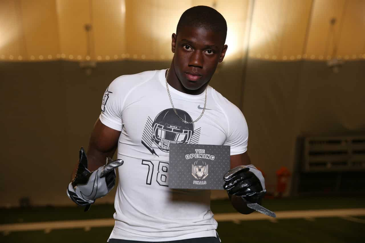 Florida Gators recruiting WR target Kevin Austin at the Opening Regional- 1280x853