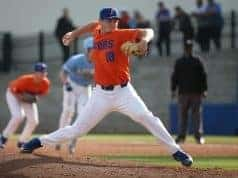 University of Florida freshman pitcher Tyler Dyson throws against Columbia University- Florida Gators baseball- 1280x845