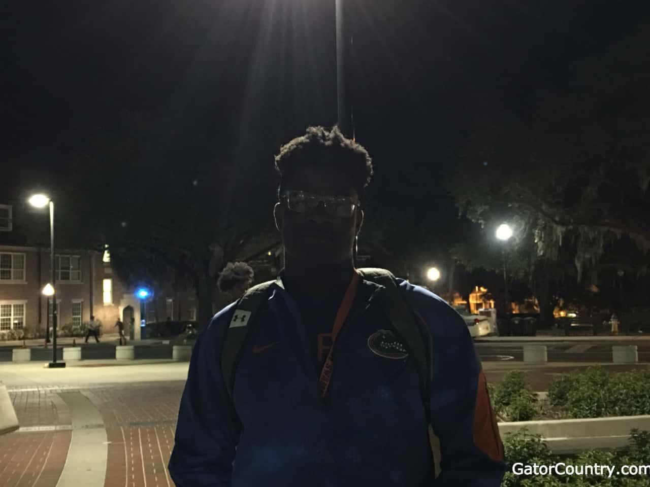 Florida Gators recruiting OL target Richard Gouraige at the Spring game- 1280x960