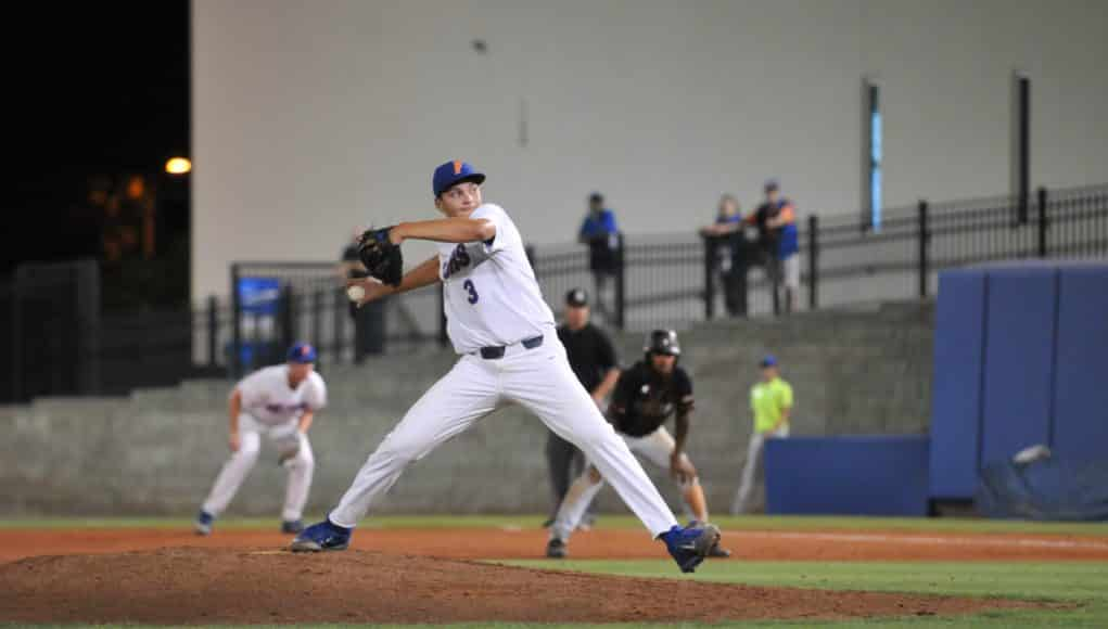 University of Florida freshman Garrett Milchin earns his first career save in a win over FAMU- Florida Gators baseball- 1280x850