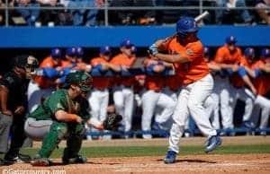 University of Florida outfielder Nelson Maldonado takes a swing in a series against the Miami Hurricanes- Florida Gators baseball- 1280x852