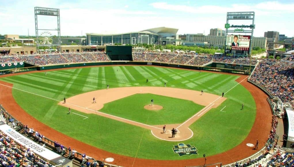 TD Ameritrade Park, the home of the College World Series- Florida Gators baseball- 1280x852