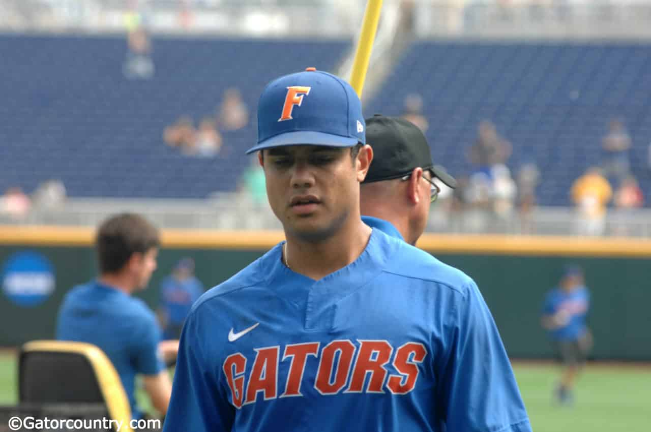 University-of-florida-outfielder-nelson-maldonado-walks-off-the-field-after-practice-at-td-ameritrade-park-for-the-college-world-series-florida-gators-baseball-1280x850