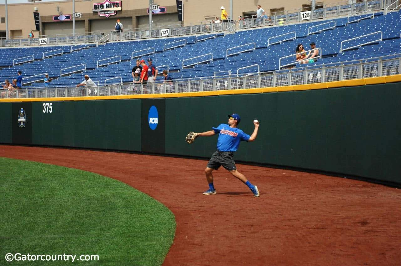 University-of-florida-outfielderpitcher-nick-horvath-throws-a-ball-into-the-infield-during-practice-in-omaha-florida-gators-baseball-1280x850-