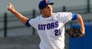 University of Florida pitcher Alex Faedo throwing against the Kentucky Wildcats- Florida Gators baseball- 1280x852