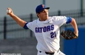 University of Florida pitcher Alex Faedo throwing against the Kentucky Wildcats- Florida Gators baseball- 1280x852