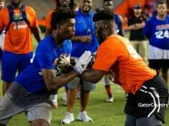 Florida Gators recruiting OL target Richard Gouraige at FNL- 1280x854