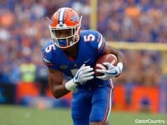 Florida Gators defensive back CJ Henderson scores against Tennessee- 1280x852
