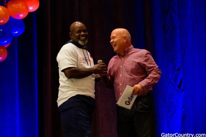 Florida Gators pep rally with Emmitt Smith and Mick Hubert- 1280x854