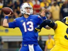 Florida Gators quarterback Feleipe Franks against Michigan-1280x853