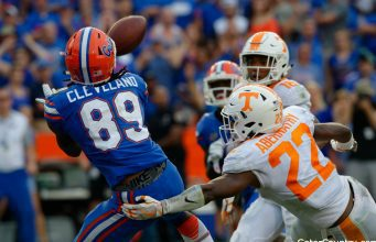 Florida Gators receiver Tyrie Cleveland catches game winning TD against Tennessee- 128x0852