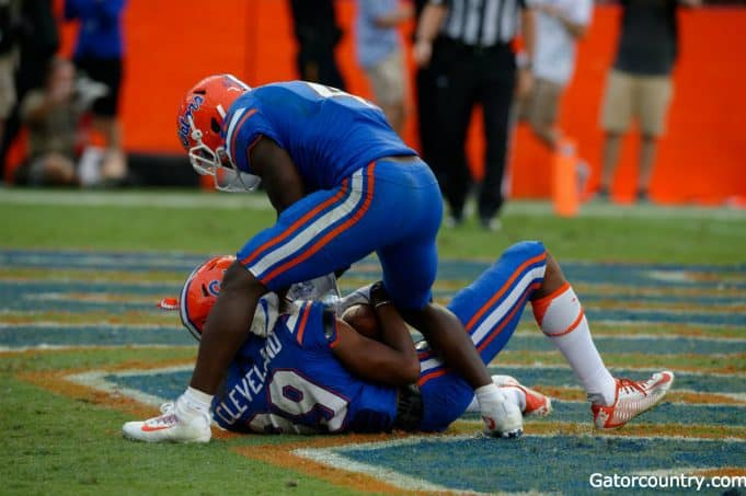 Florida Gators receivers Brandon Powell and Tyrie Cleveland celebrate- 1280x852
