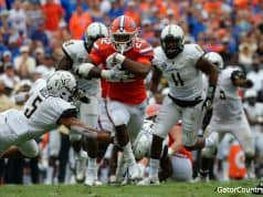 Florida Gators running back Lamical Perine runs against Vanderbilt- 1280x852