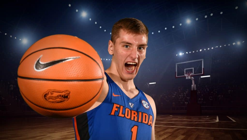 Florida Gators freshman forward Chase Johnson at media day- 1280x853
