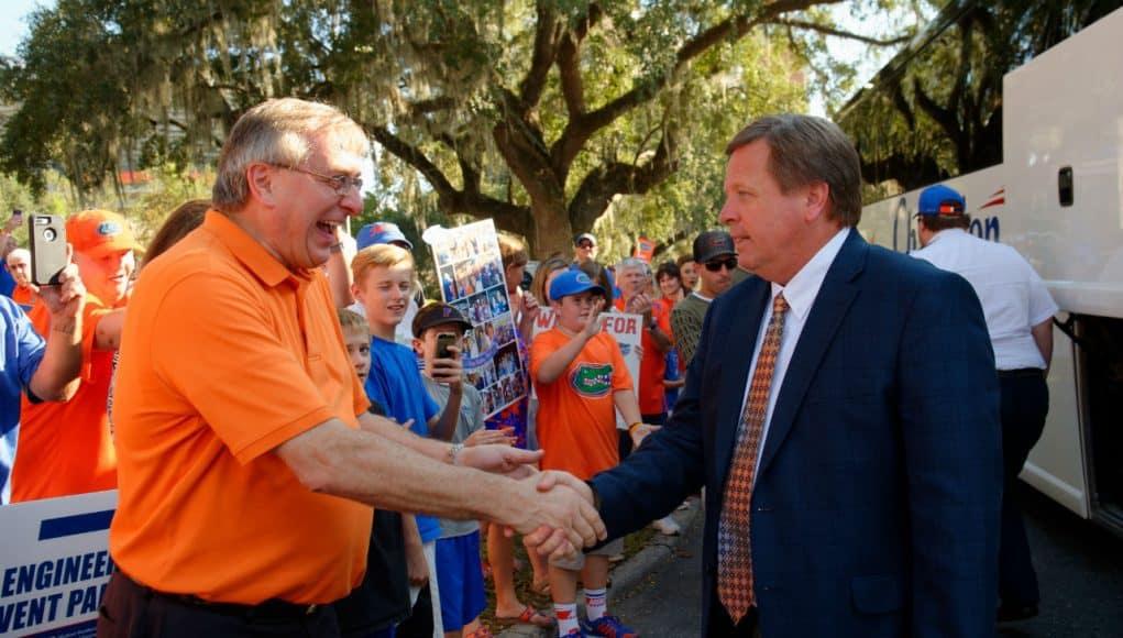 Florida Gators head coach Jim McElwain at Gator Walk - 1280x852