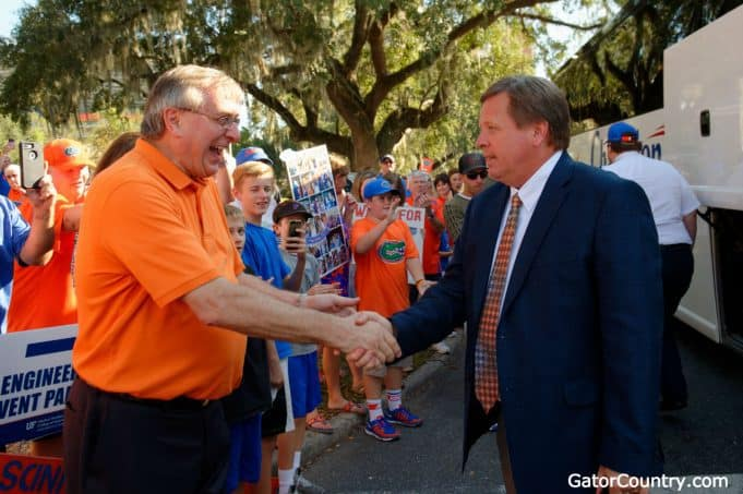 Florida Gators head coach Jim McElwain at Gator Walk - 1280x852