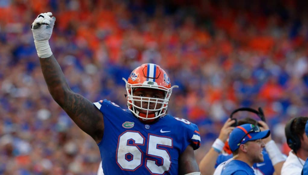Florida Gators offensive lineman Jawaan Taylor against LSU- 1280x852