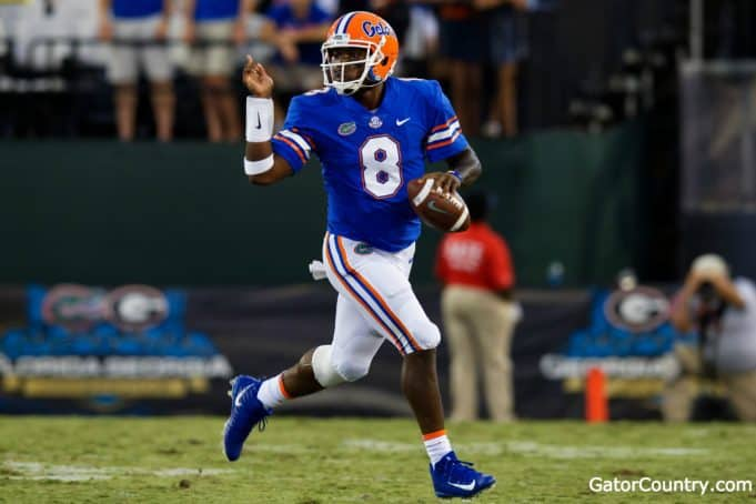Florida Gators quarterback Malik Zaire runs against Georgia- 1280x853