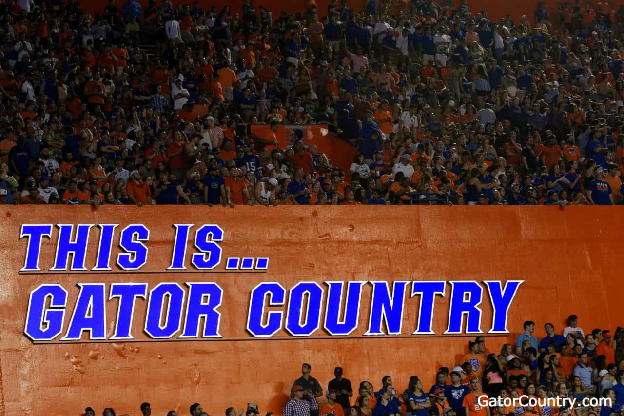 GATOR COUNTRY Street Sign gators fan aligator lover football 18/""
