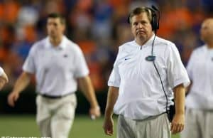 University of Florida head coach Jim McElwain reacts to a play during the Florida Gators loss to Texas A&M- Florida Gators football- 1280x853