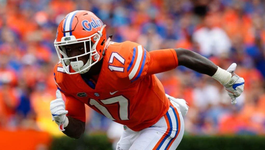 University of Florida receiver Kadarius Toney runs a route during the Florida Gators win over Vanderbilt- Florida Gators football- 1280x852