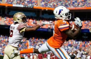 Florida Gators WR Brandon Powell catches a TD against FSU- 1280x853